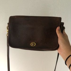 Vintage Coach Crossbody Bag - Brown